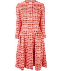 delpozo tweed styled dress - red