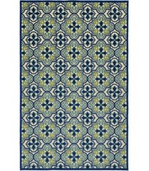 "kaleen a breath of fresh air fsr104-17 blue 7'10"" x 10'8"" area rug"