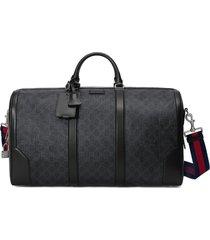 gucci gg supreme carry-on duffle bag - black