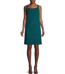 sleeveless wool-blend shift dress