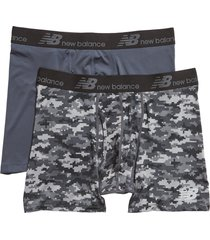 men's new balance 2-pack boxer briefs, size small - black