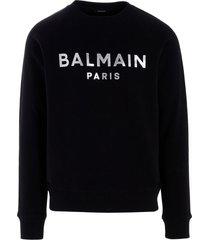 balmain balmain foil sweatshirt