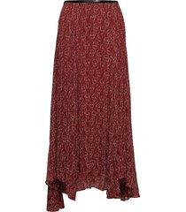 ski1011s91 knälång kjol röd by malene birger