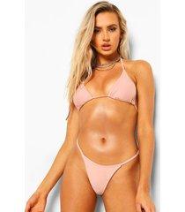 essentials tanga string bikini broekje, poederroze