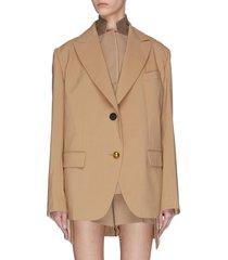 paneled double blazer jacket