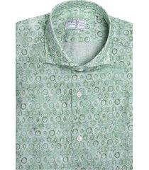 green sean tiles printed panamino man shirt