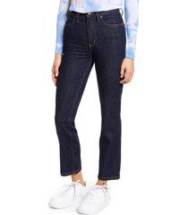 lee high waist ankle straight leg jeans, size 32 in retro rinse at nordstrom