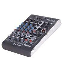 mesa de som ll áudio xms402r stereo starmix 4 canais cinza