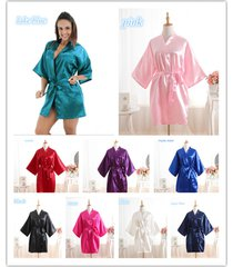 bridesmaid peacock kimono robe wedding women---satin silk sleepwear hot!