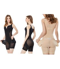 hot full body shapers compression strappy waist trainer corset shapewear suit