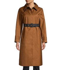 mackintosh women's roslin wool & mohair trench coat - brown - size 8