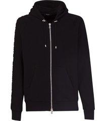 balmain embossed logo hoodie