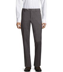 pt01 men's traveler flat front techno wool trousers - grey - size 56 (40)