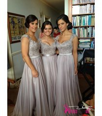 silver gray bridesmaid dress,bridesmaid prom dress,grey party/evening dress pty2