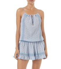 melissa odabash women's chelsea cotton short dress - rose - size l