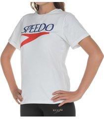 camiseta manga corta logo vintage femenino