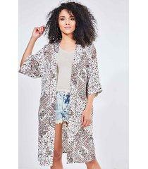 kimono estampa étnica