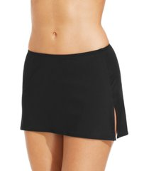 coco reef solid slit swim skirt women's swimsuit
