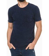 camiseta mc regular silk flame marm gc - azul médio - p