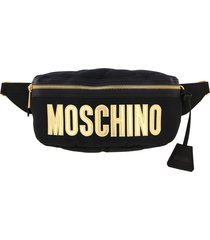 moschino couture belt bag moschino couture pouch in quilted nylon with big logo