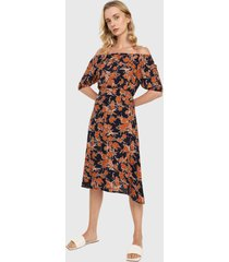 vestido azul-naranja-blanco paris district