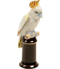 escultura decorativa de porcelana cacatua kakadu