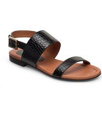 sandals 14010 shoes summer shoes flat sandals svart carla f