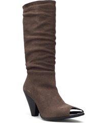 biadevia long boot höga stövlar brun bianco
