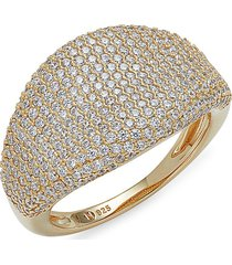 adriana orsini women's 18k goldplated sterling silver & cubic zirconia ring - size 7