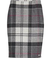 nebit pencil skirt knälång kjol grå barbour