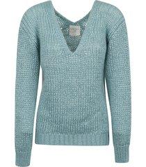 forte forte silk cashmere mohair v neck sweater