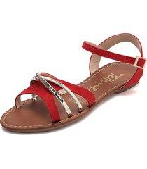 sandalia dama rojo*dorado tellenzi 1999