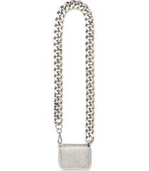 biker chain crystal mesh wallet