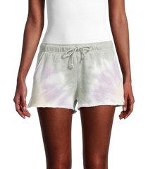 olive & oak women's drawstring cotton-blend shorts - matcha lilac - size m