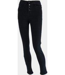 jeans  negro pitillo botones negro family shop