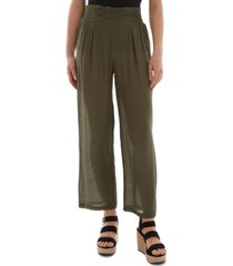 bcx juniors' ruched-front cropped pull-on pants
