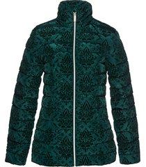 giacca trapunta con stampa vellutata (verde) - bpc selection