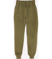 womens let's pocket together high-waisted relaxed pants - khaki