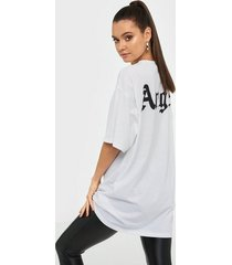 missguided angel back print oversized t shirt dress loose fit dresses