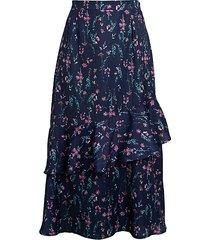 asymmetrical ruffle skirt