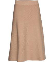 skirts flat knitted knälång kjol beige esprit collection