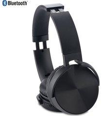 audifonos bluetooth dj plasticos auriculares acolchados - negro