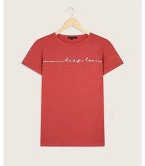 camiseta cuello redondo con estampado
