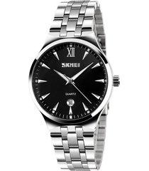 reloj mujer skmei 9071 negro