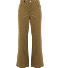 a.p.c. cropped corduroy trousers - neutrals