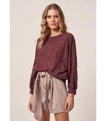 blusa ampla malha tricot - feminina - feminino