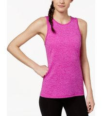 ideology heathered keyhole-back tank top, created for macy's