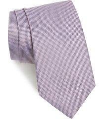men's brioni solid silk tie, size regular - pink