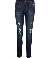 low rise super skinny skinny jeans blå hollister