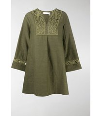 chloé embroidered tunic dress